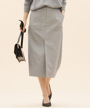 23区 【先行予約】ダブルクロスパッチポケット スカート ライトグレー系