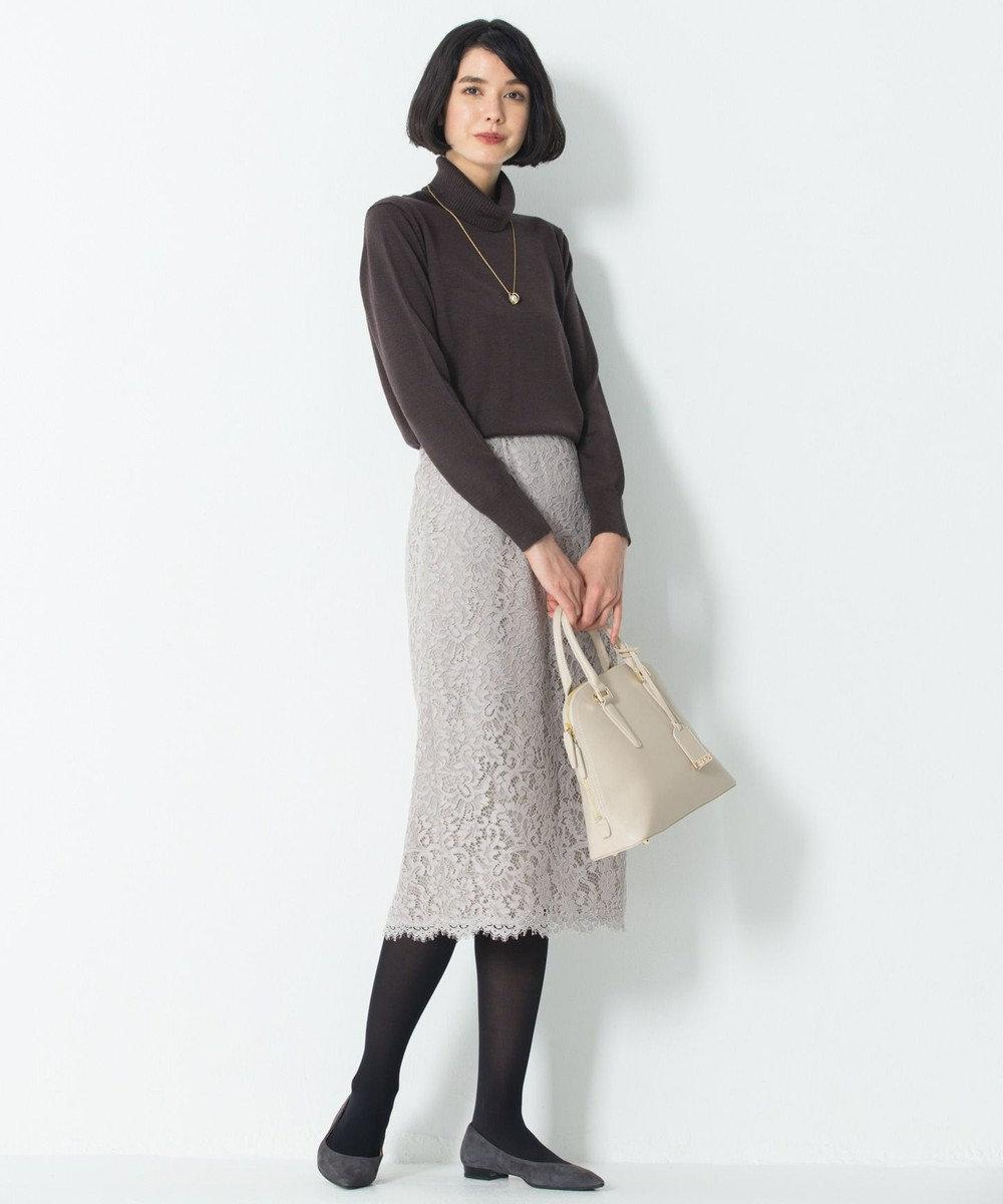 23区 S 【マガジン掲載】ペイズリーフラワーレース スカート(検索番号K45) ベージュ系