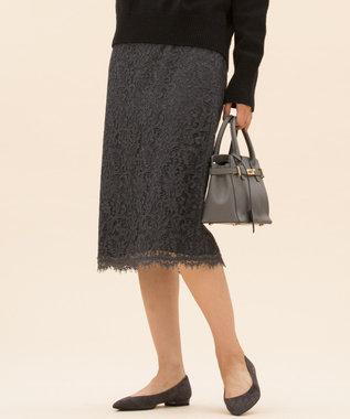 23区 S 【マガジン掲載】ペイズリーフラワーレース スカート(検索番号K45) グレー系