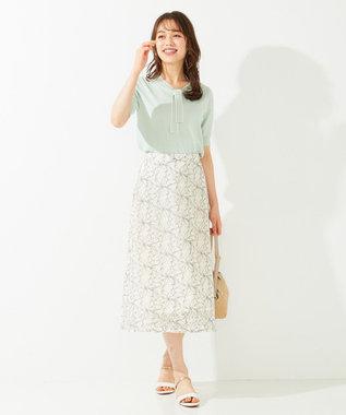 any SiS S 【洗える】カラーパターンレース スカート アイボリー