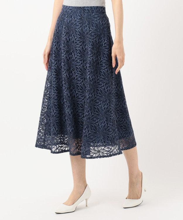 any SiS S 【洗える】カラーパターンレース スカート