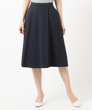 any SiS S 【美人百花掲載】タックポイントノーブル スカート ネイビー