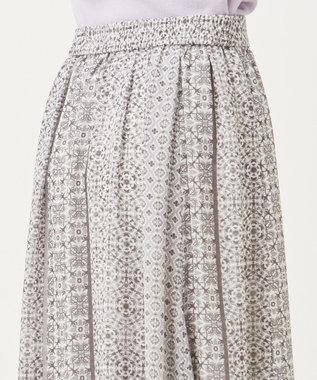 any SiS エスニックパネルプリント スカート モノトーン
