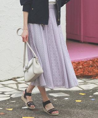any SiS エスニックパネルプリント スカート ライラック