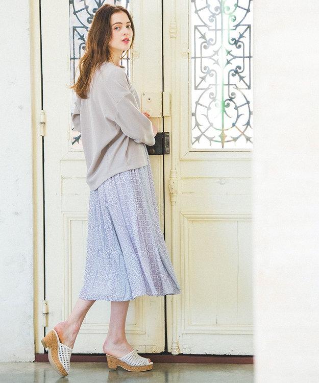 any SiS エスニックパネルプリント スカート