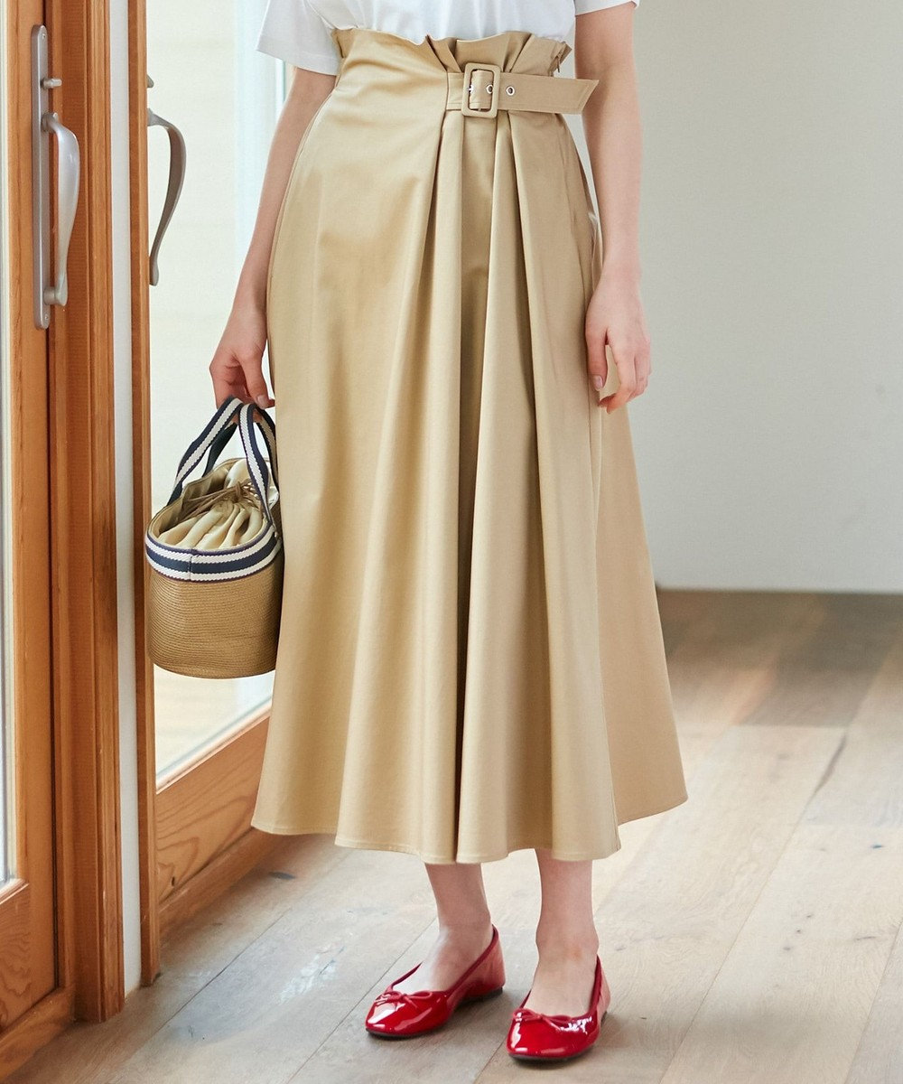 any SiS 【L'aube】ハイウエスト スカート ベージュ