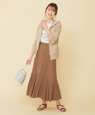any SiS 【WEB限定色あり】L'aubeクリンクルマーメイド スカート モカ