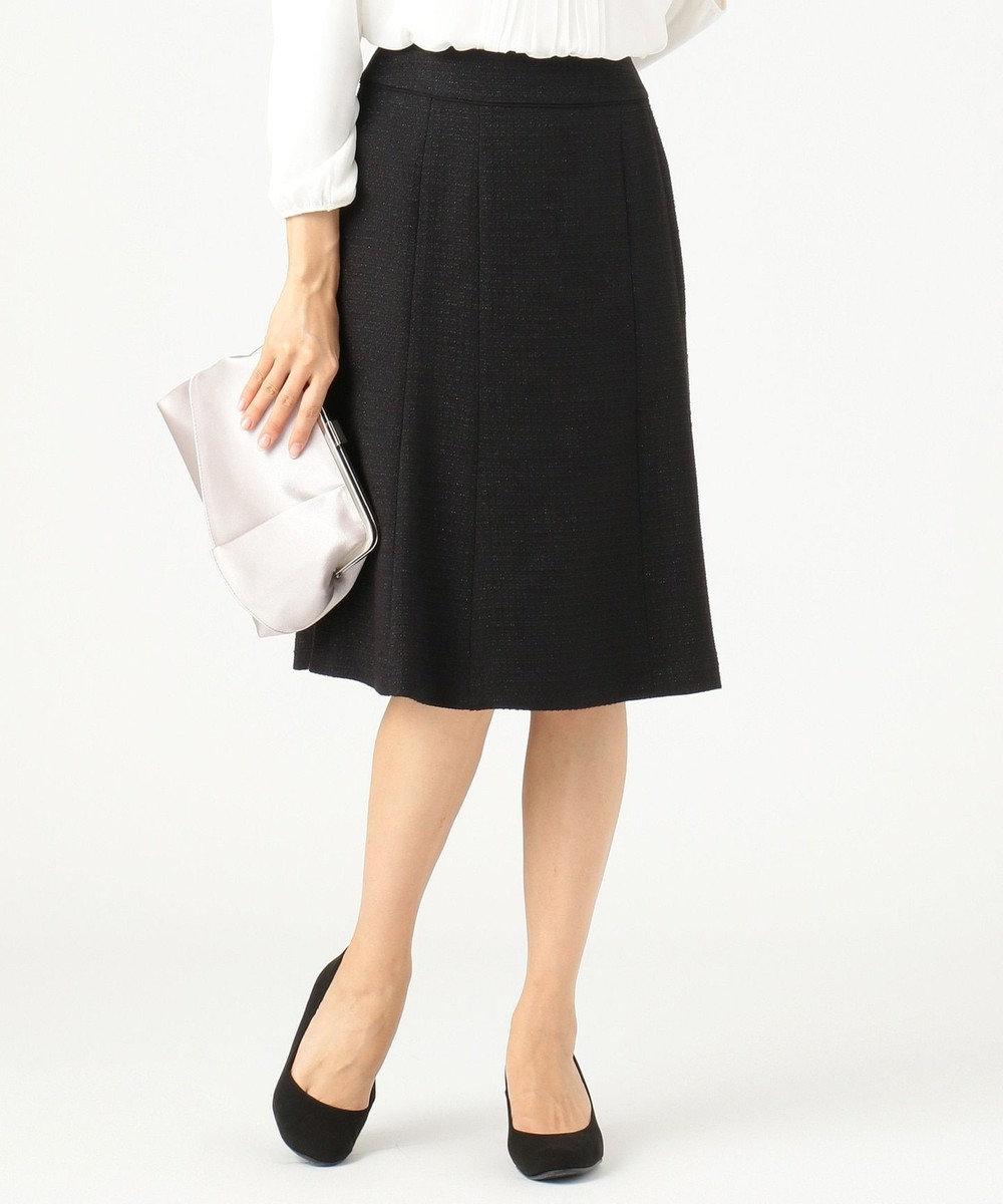 any SiS S 【セットアップ対応】リップルボーダーストレッチ スカート ブラック