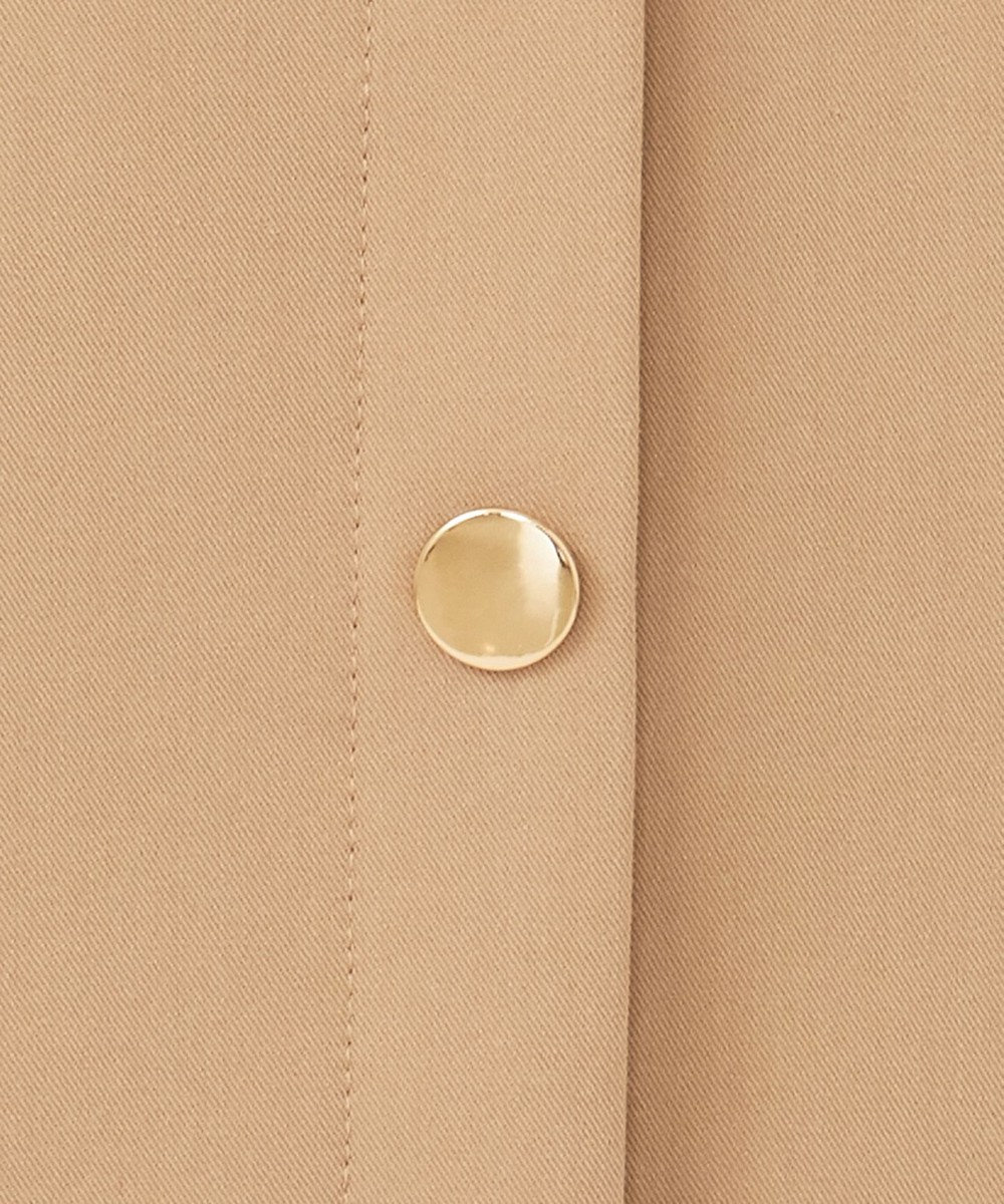 any SiS 【洗える】サイドボタンフレア スカート キャメル