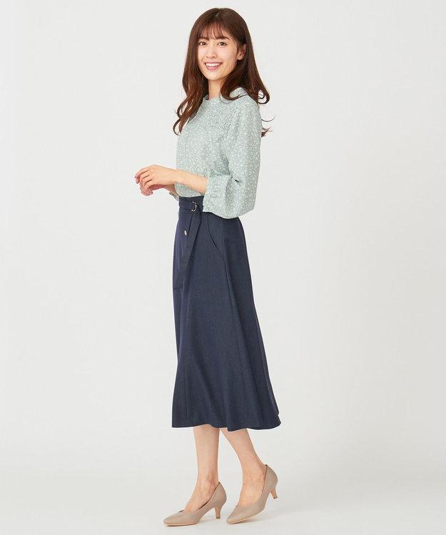 any SiS 【洗える】サイドボタンフレア スカート