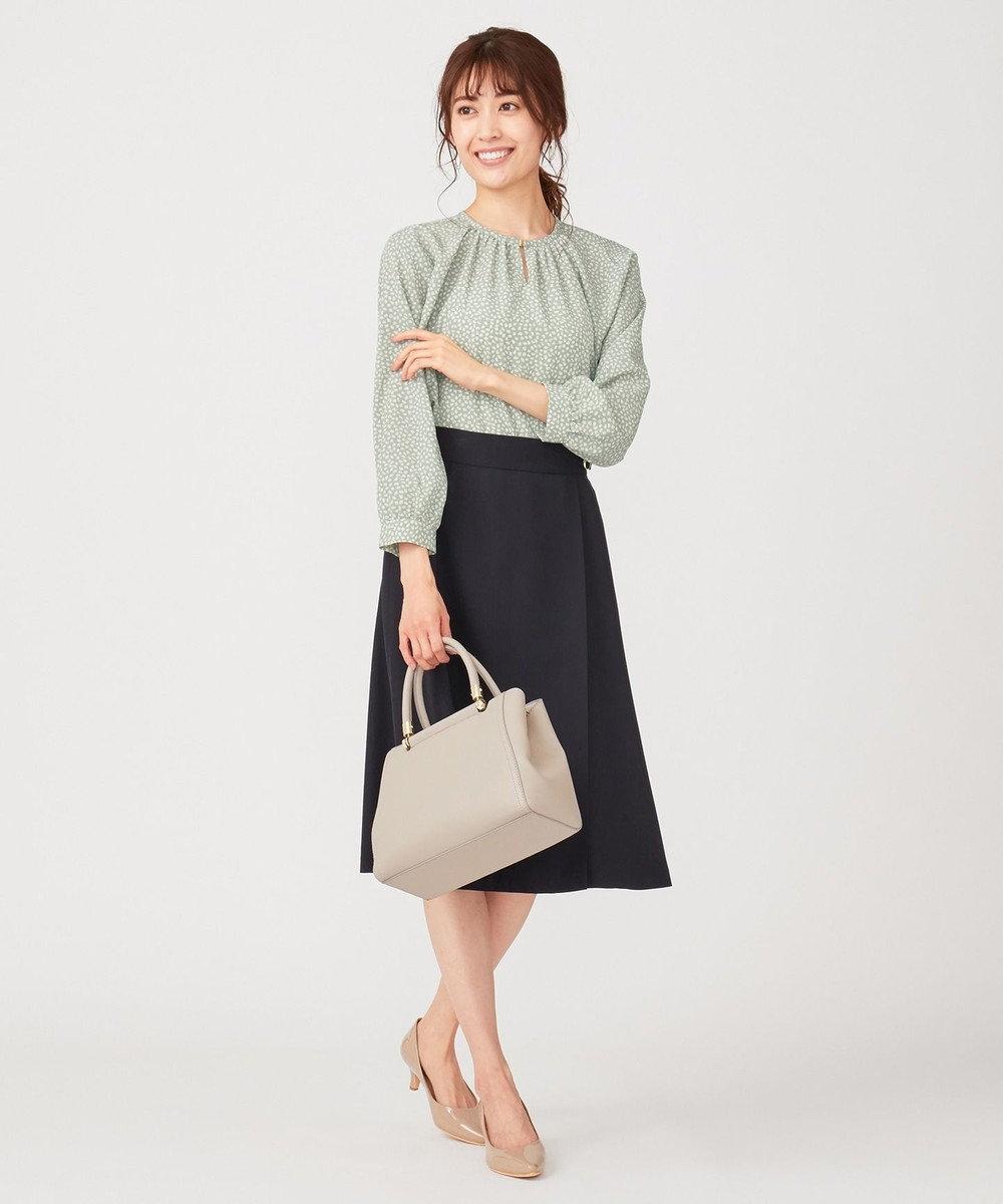 any SiS L 【洗える】スプリングサイドベルト スカート ネイビー