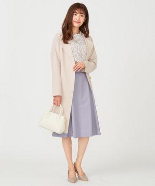 any SiS L 【洗える】スプリングサイドベルト スカート ブルーグレー