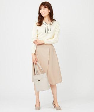 any SiS L 【洗える】スプリングサイドベルト スカート ベージュ