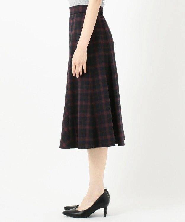 any SiS L 【洗える】フレアチェック/ツイード スカート