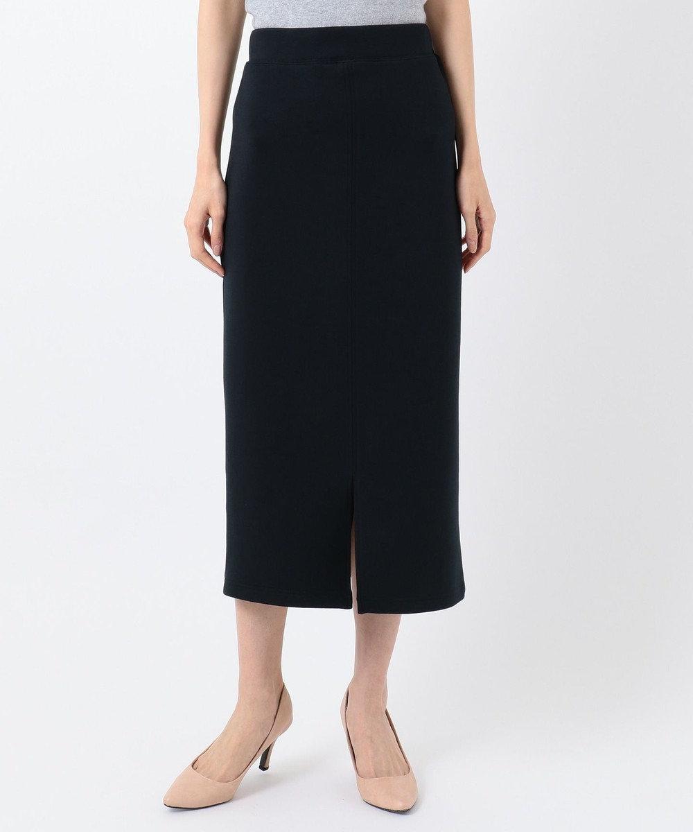 any SiS 【洗える】ダンボールニット スカート ネイビー系