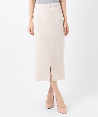 any SiS 【洗える】ダンボールニット スカート ベージュ系