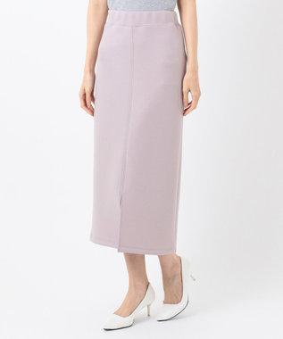 any SiS 【洗える】ダンボールニット スカート ライラック系