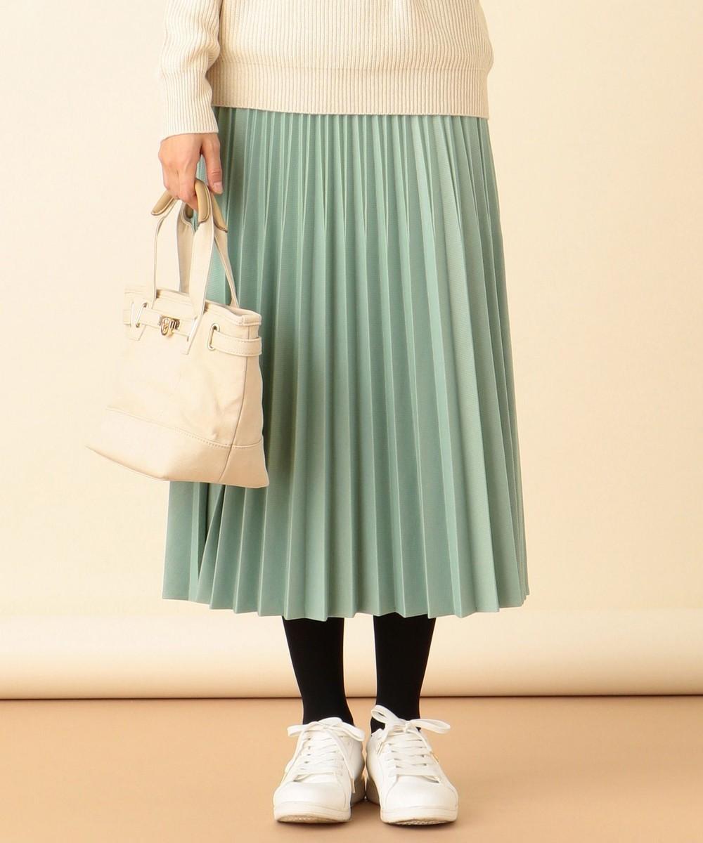 【洗える】ニットジャガードプリーツ スカート