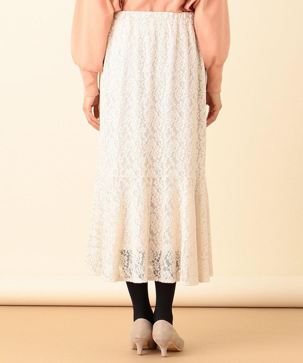 any SiS S 【洗える】キモウレースフレア スカート アイボリー