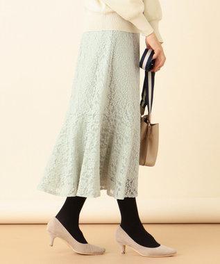 any SiS S 【洗える】キモウレースフレア スカート ピスタチオ