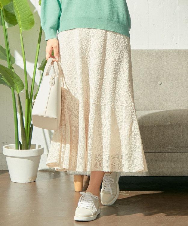 any SiS S 【洗える】キモウレースフレア スカート