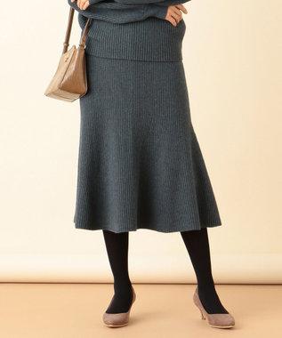 any SiS L 【洗える】マーメイドニット スカート ディープグリーン