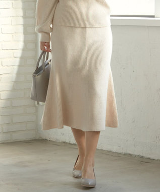any SiS L 【洗える】マーメイドニット スカート アイボリー