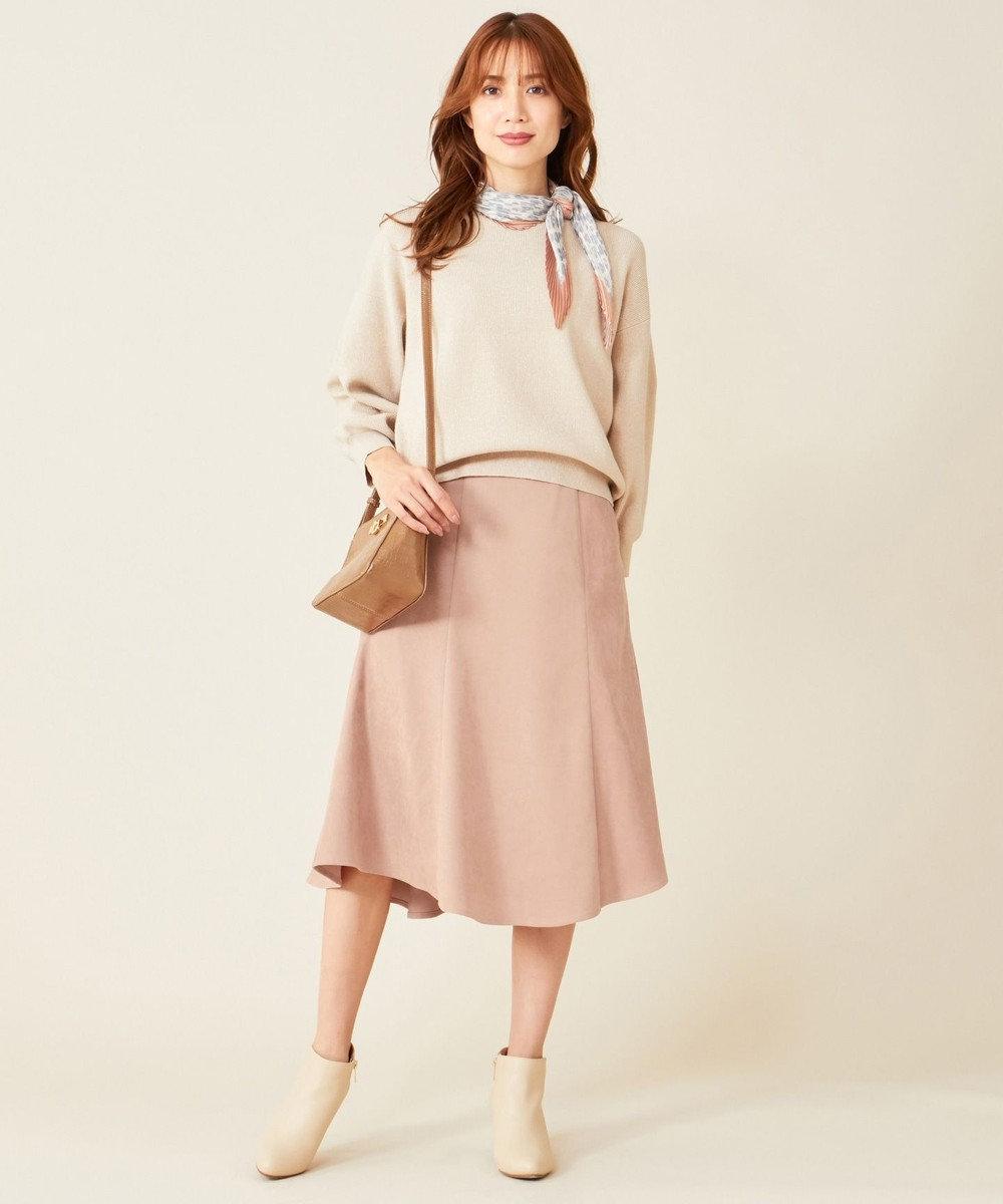 any SiS S 【洗える】マーメイドスエード調 スカート アンティークピンク