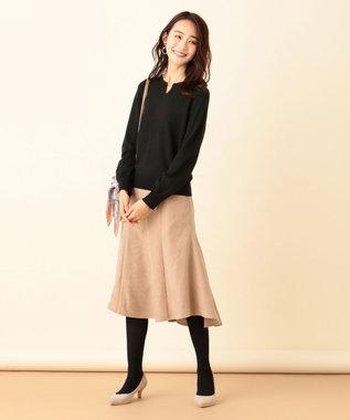 any SiS S 【洗える】マーメイドスエード調 スカート ブラウン