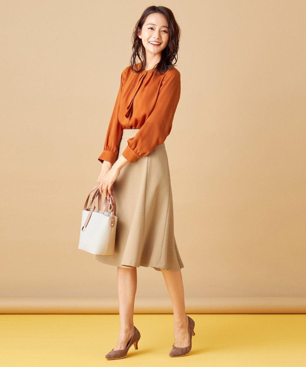 any SiS 【洗える】ハトメポイント フレアスカート ベージュ
