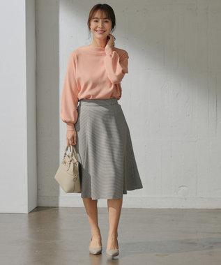 any SiS 【洗える】ハトメポイント フレアスカート ブラウンチェック
