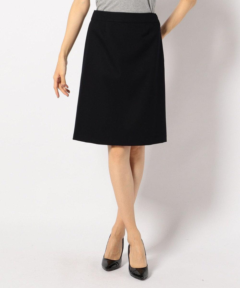 any SiS (スーツ対応)【洗える】T/Rウォッシャブルスーツ スカート ネイビー系