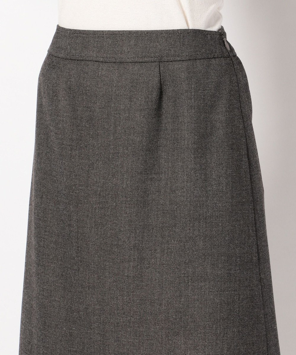 any SiS (スーツ対応)【洗える】T/Rウォッシャブルスーツ スカート ブラック系1