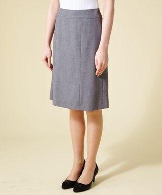 any SiS 【洗えるスーツ】T/Rウォッシャブル スカート グレー系