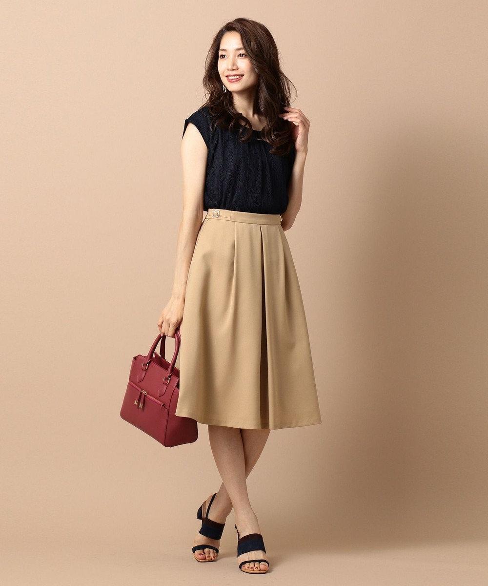 any SiS L 【洗える】サイドバックルポイント スカート ベージュ系