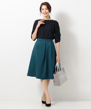 any SiS L 【洗える】サイドバックルポイント スカート ダークグリーン系