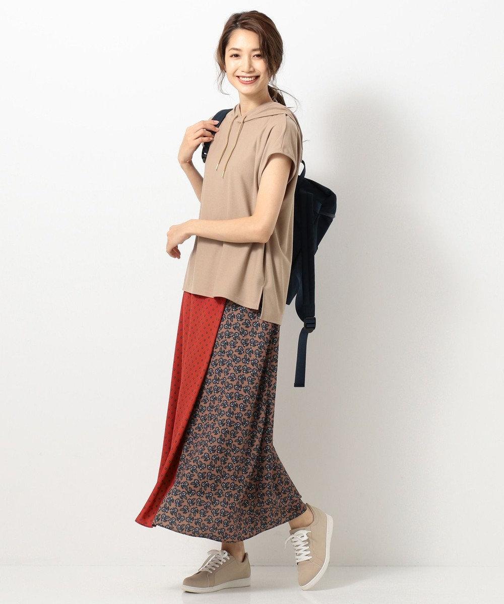 any SiS L 【UVケア】ミックスパターンサロン スカート オレンジ系4