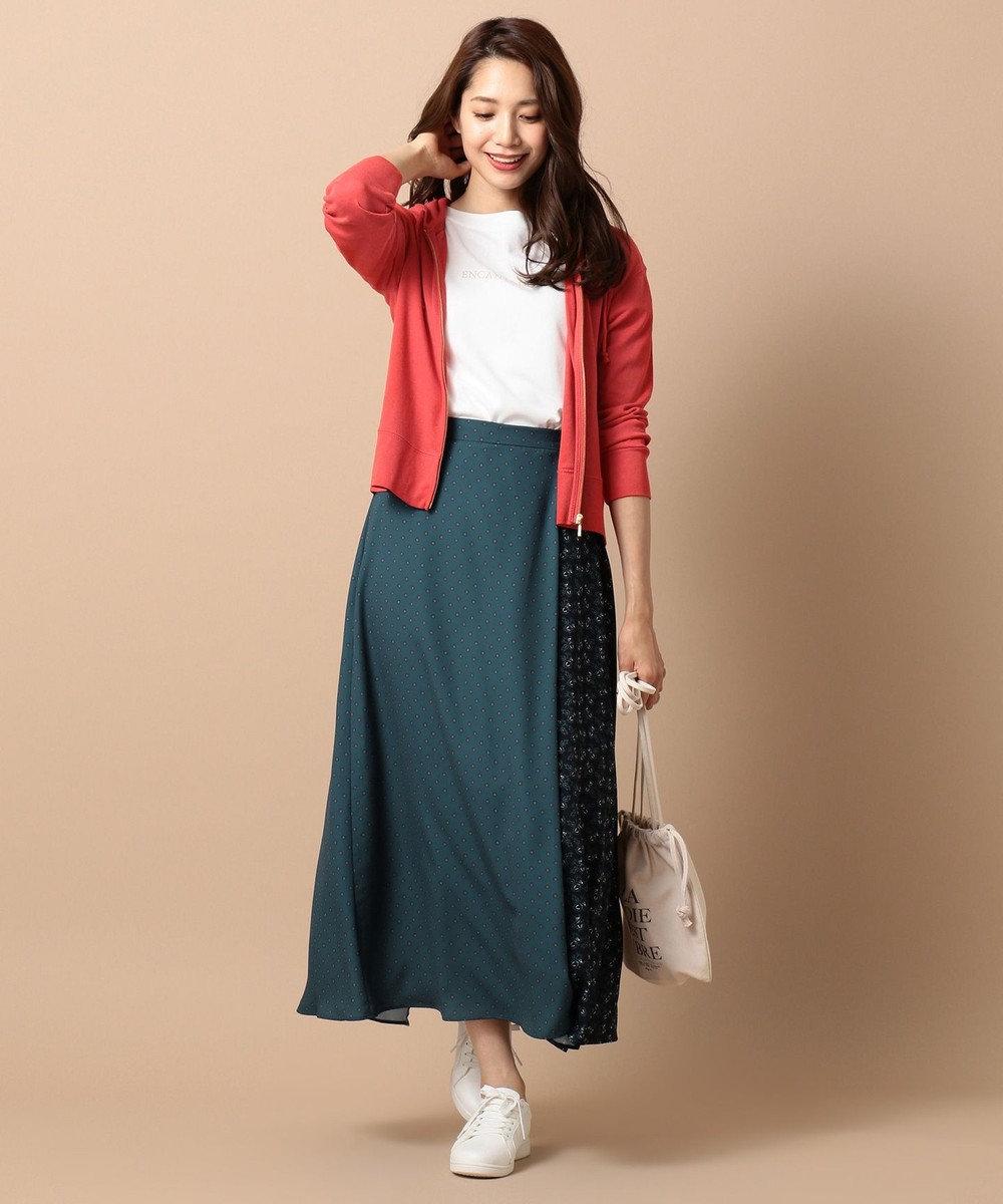 any SiS L 【UVケア】ミックスパターンサロン スカート ダークグリーン系4