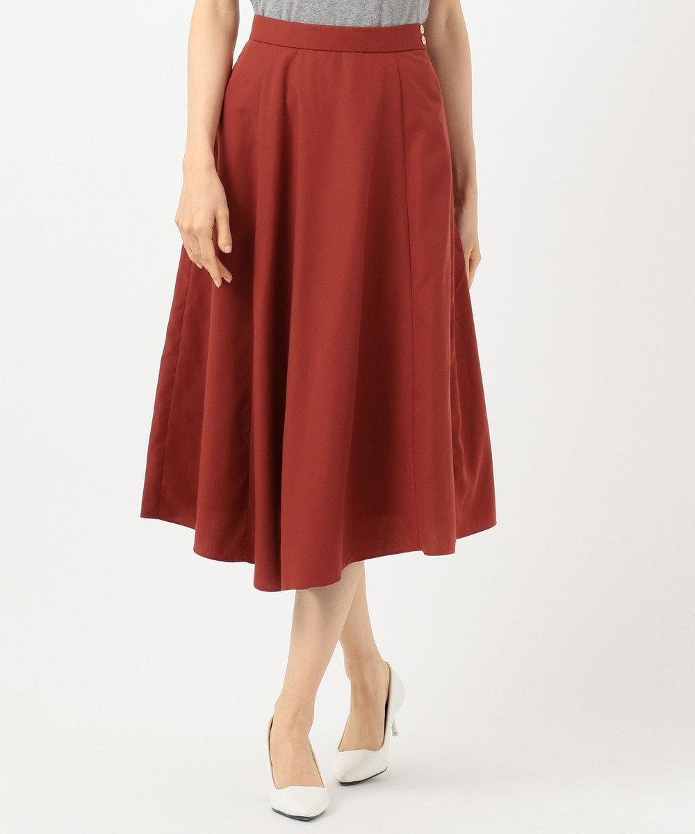 any SiS S 【洗える】レディイレヘム スカート オレンジ系