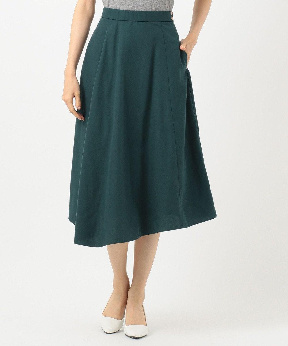 any SiS S 【洗える】レディイレヘム スカート ピーコックグリーン系