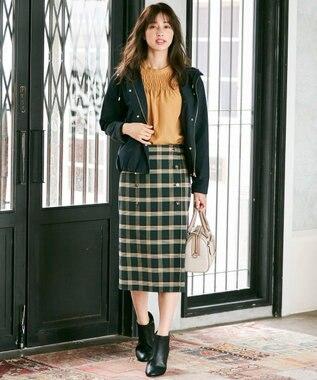 any SiS 【2WAY】クラシカルリバーシブルラップ スカート グリーン系チェック