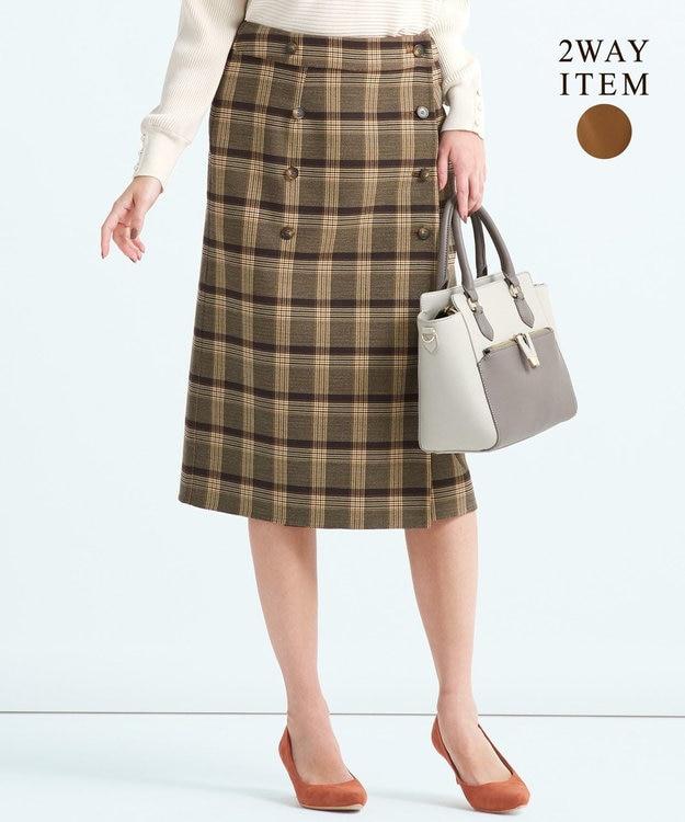 any SiS 【2WAY】クラシカルリバーシブルラップ スカート