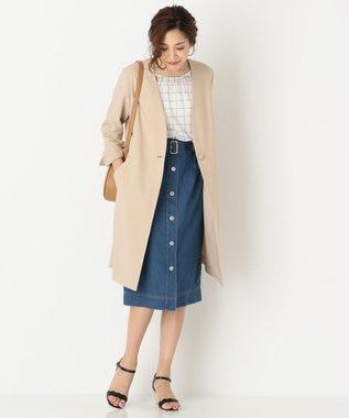 any SiS 【洗える】ライトデニム スカート ダルブルー系