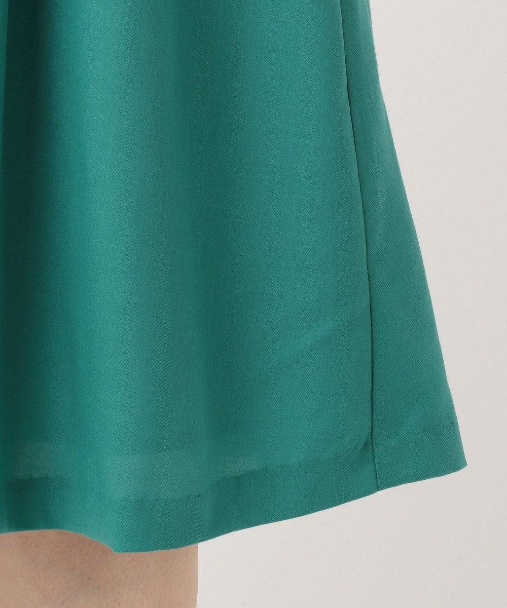 any SiS 【洗える】スプリングタックフレア スカート ダークグリーン系
