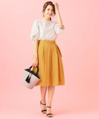 any SiS 【洗える】スプリングタックフレア スカート イエロー系