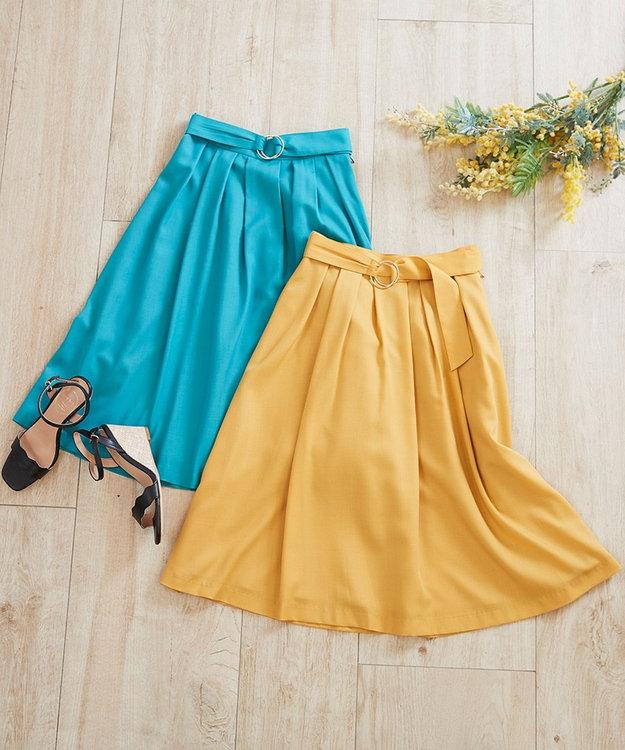 any SiS 【洗える】スプリングタックフレア スカート