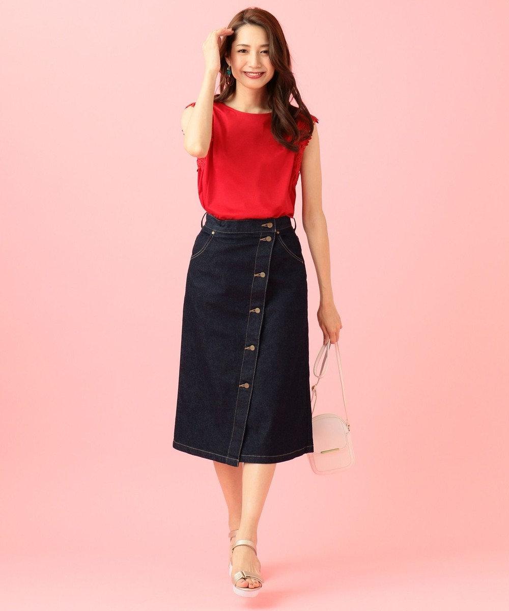 any SiS 【泉里香さん着用】Leeコラボ デニム スカート ネイビー系