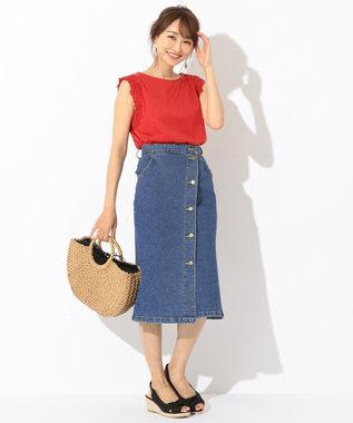 any SiS 【泉里香さん着用】Leeコラボ デニム スカート ダルブルー系