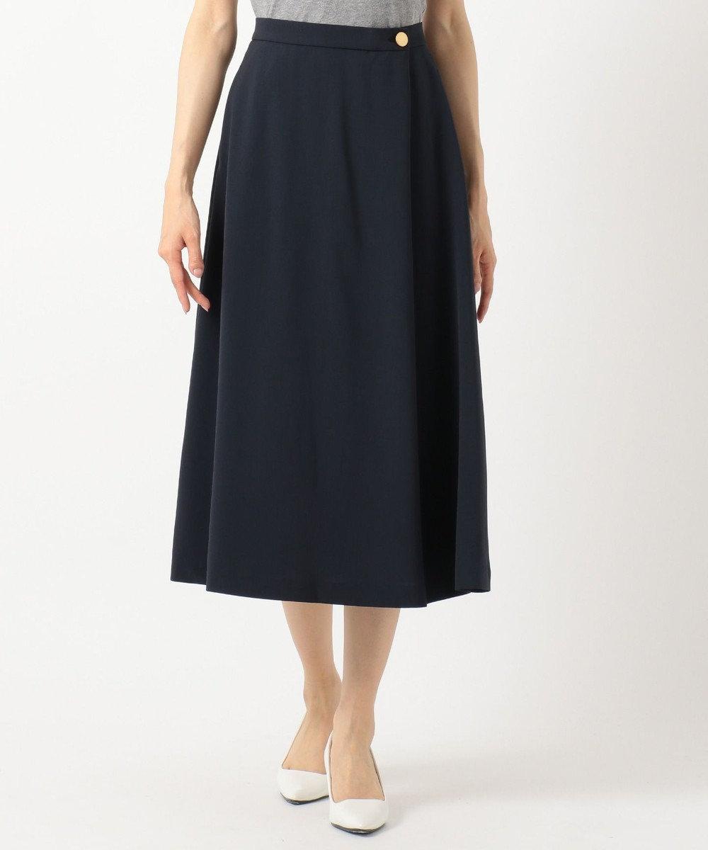any SiS S 【洗える】ライトサマーフレア スカート ネイビー系