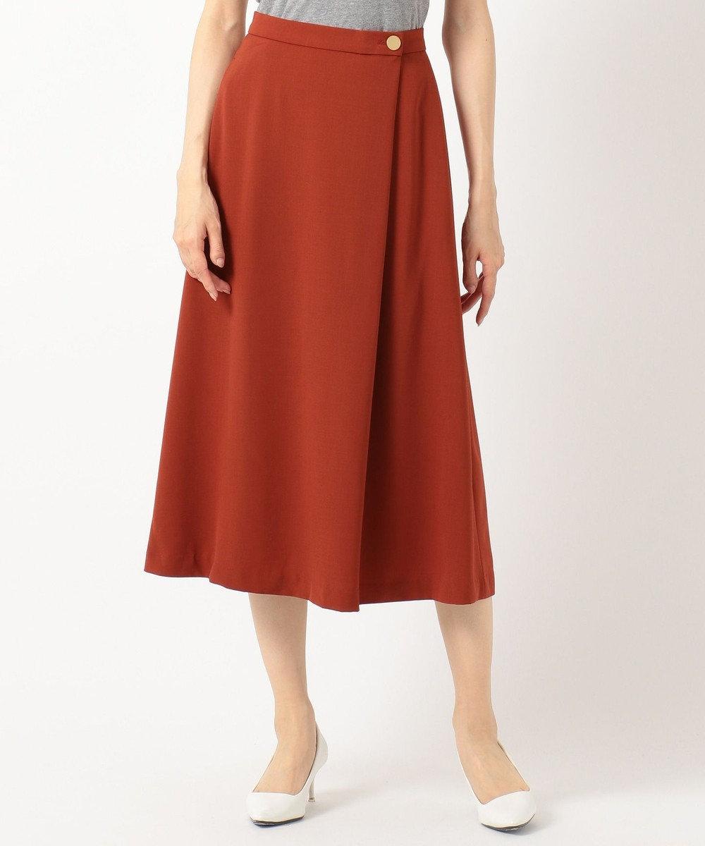 any SiS S 【洗える】ライトサマーフレア スカート キャメル系